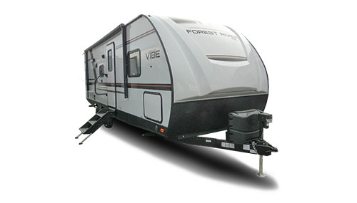 Lightweight RV Types include small RVs like the Vibe Extreme.