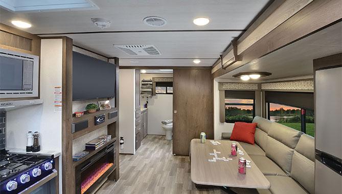 Travel Trailer With Large Bathroom.Rv Floor Plans Rear Bathroom Layout Rv Wholesale