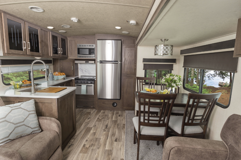 RV Floor Plans ∣ Rear Kitchen Layout